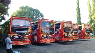 [HD] Konvoi 5 Unit Bus CIPTA KURNIA Goes To Malang, Full Telolet
