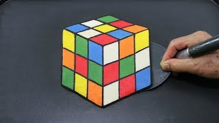 Draw, Color and Cook Rubik's Cube Puzzle PANCAKE