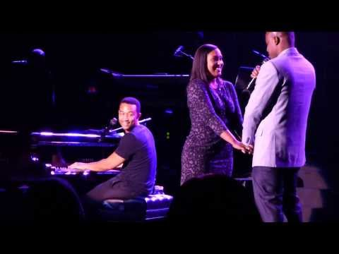 unofficial John Legend All of me with surprise wedding proposal