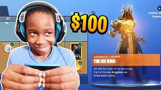 Kid Spends $100 On Season 7 *MAX* Battle Pass With Brother
