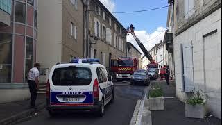 Les pompiers interviennent rue du Gond à Angoulême
