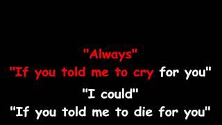 Always - Bon Jovi - KARAOKE HD