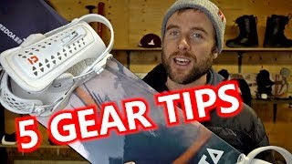 5 Beginner Snowboard Gear Tips