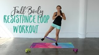 Full Body Resistance Band Loop Workout | Total Body Workout with a Resistance Loop