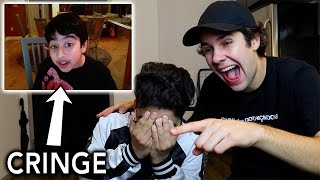 REACTING TO CRINGEY CHILDHOOD VIDEOS ft. David Dobrik
