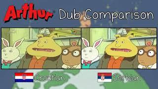 Arthur Dub Comparison (Serbian vs Croatian dubs)