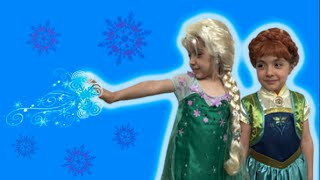 Anna And Elsa In Real Life Frozen Fever Lego Toys Movie! Anna's Birthday Party! Frozen 2 Short!