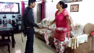 Indian Mother reaction when son caught with drugs.  Prank Gone Wrong
