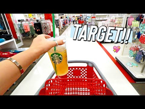 LAST MINUTE TARGET SHOPPING!!
