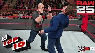 WWE 2K18 - Top 10 Raw (25th Anniversary) Moments   Raw, Jan. 22, 2018