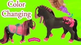Breyer Color Change Surprise Pony Gals Jasmine Horse - Water Play Toy Video Honeyheartsc