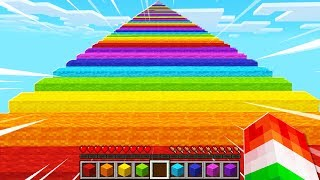 EXTREME LONGEST MINECRAFT RAINBOW ROAD!