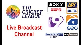 TCL – T10 Cricket Match Live on Ten Sports | GEO TV | Sony ESPN | Channel 9 | ARY Digital Network