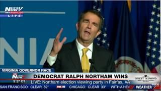 BREAKING NEWS;DEMOCRAT RALPH NORTHAM VICTORY SPEECH AFTER WINING VIRGINA GOVERNOR ELECTION