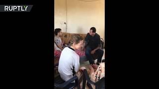 الأسد رفقة قرينته يزوران عائلة جريح في ريف حماة