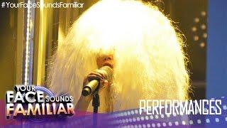 "Your Face Sounds Familiar: Kakai Bautista as Sia - ""Chandelier"""