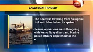 11 feared dead after boat capsizes in Lamu