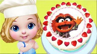 Muppet Babies Animal & Gonzo Disney Junior Birthday Cake  - Kids Learn Cake Maker App For Toddlers