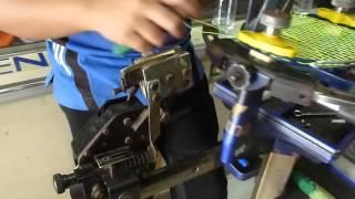 pasang senar raket bulutangkis bg66 max tension 30lbs opening
