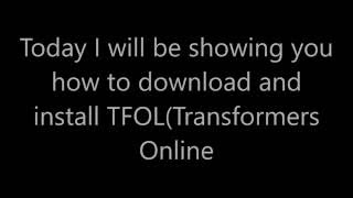How to Download and install Transformers Online