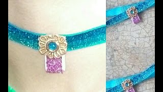 DIY 3 minutes Choker necklace at home Under 20 Taka / 10 Rupee