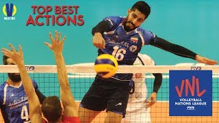 Top Best Actions by Ali Shafiei on VNL 2018 ● Iran Blocker