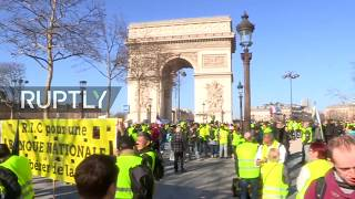 LIVE: Yellow Vests protesters hit the streets of Paris for 15th straight week