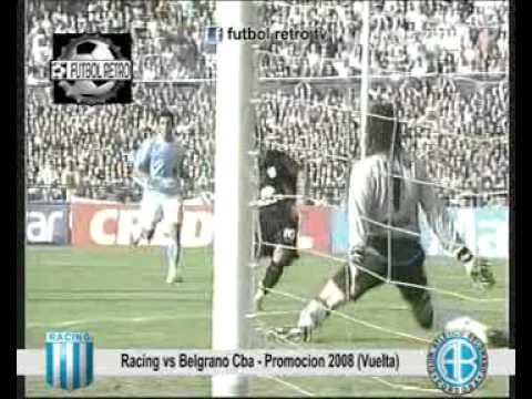 Racing 1 vs Belgrano Cba 0 Promocion 2008 Vuelta FUTBOL RETRO TV