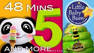Number 5 Song | Plus Lots More Nursery Rhymes | 48 Minutes Compilation from LittleBabyBum!