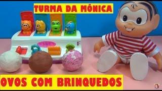 Turma da Mônica OVOS SURPRESA com BRINQUEDOS  - ÔNIBUS E BRINQUEDO DE PORTINHAS #TiaCris