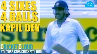 KAPIL DEV's FAMOUS 6 6 6 6 | 4 SIXES from 4 BALLS to Save Follow on | RARE VIDEO!!