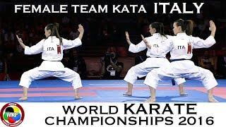 BRONZE MEDAL. Female Team Kata ITALY. 2016 World Karate Championships