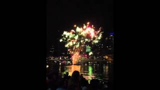 Riverfire 2012 Fireworks in Slow Motion 60fps 13