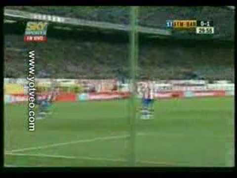 Nuevo super gol de tijera Ronaldinho Barcelona vs Atlético