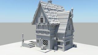 Autodesk Maya 2014 Tutorial Old House Modeling Part 3
