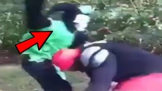 *He body slammed a clown*People fighting clowns compilation part 2