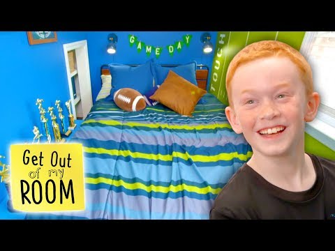 Teen Surprises Little Brother with a Football Themed Bedroom Get Out Of My Room Universal Kids