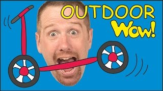 Outdoor Toys + MORE Sports for Kids | English Stories for Children | Steve and Maggie | Wow English
