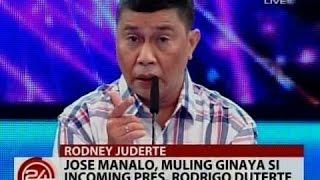 24 Oras: Jose Manalo, muling ginaya si Incoming Pres. Rodrigo Duterte