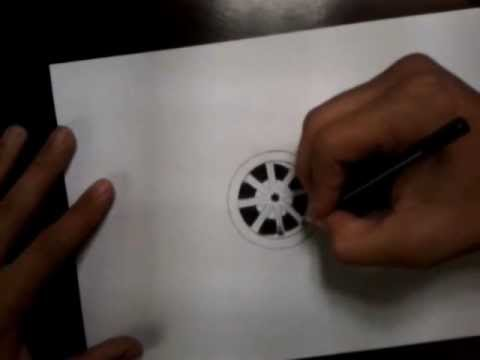 Aula basica de como desenhar rodas cromadas