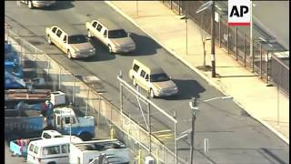 Hearse carrying Whitney Houston arrives at church for funeral