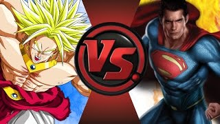 BROLY vs SUPERMAN! Cartoon Fight Club Episode 47