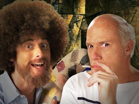 Bob Ross vs Pablo Picasso Epic Rap Battles of History Season 3.
