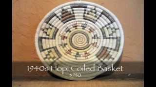 Frontier Plunder Indian Trading Post - 1940s Hopi Coiled Basket