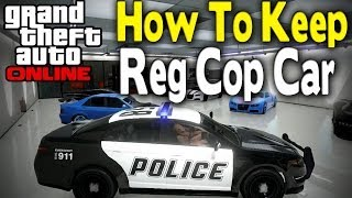 GTA 5 ) How to customize a cop car glitch (XBOX 360,ONE PS4