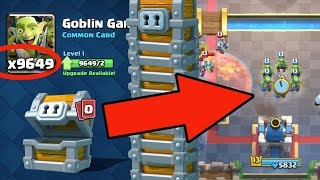 9,649 Goblin Gangs - LEVEL 1 to MAX in 2 MINUTES! Clash Royale MASSIVE Chest Opening