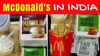 McDonald's in India | Eating Indian McDonalds menu taste test in Kolkata