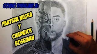 Cómo dibujar a Pantera Negra y Chadwick Boseman / How to draw