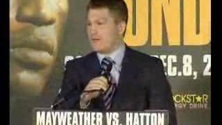 Hatton Mayweather Sky Press Conference UNCENSORED