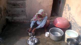 You will shock Village's Bahubali - 85 yrs old  mother doing kitchen work